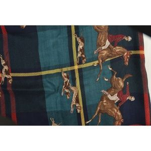 Ralph Lauren Accessories - Ralph Lauren scarf 34 x 34 blue green brown red pl